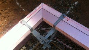 Installing ICF Concrete Footings